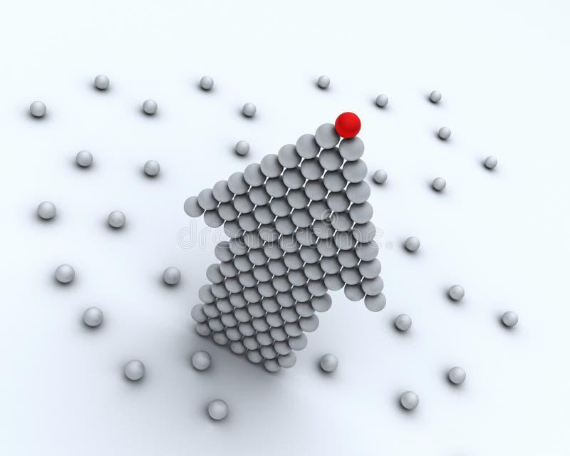 Red ball leader of business team vector illustration
