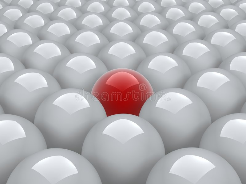 Download Red ball in white ones stock illustration. Image of glass - 2309466