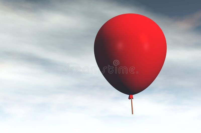 Download Red balloon stock illustration. Illustration of lost - 18867003
