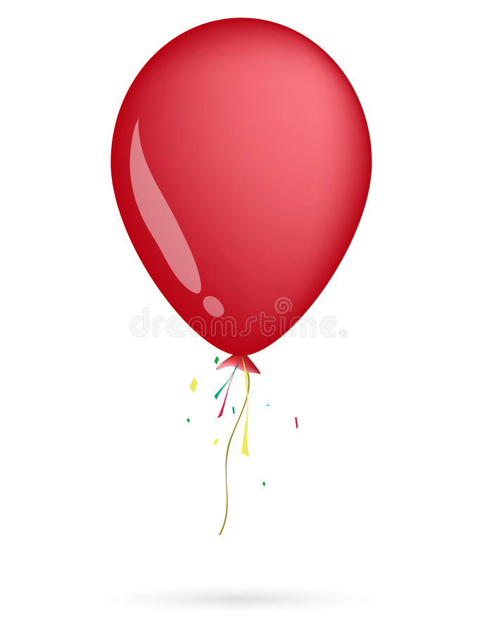 Download Red balloon stock illustration. Image of painting, happiness - 6717176
