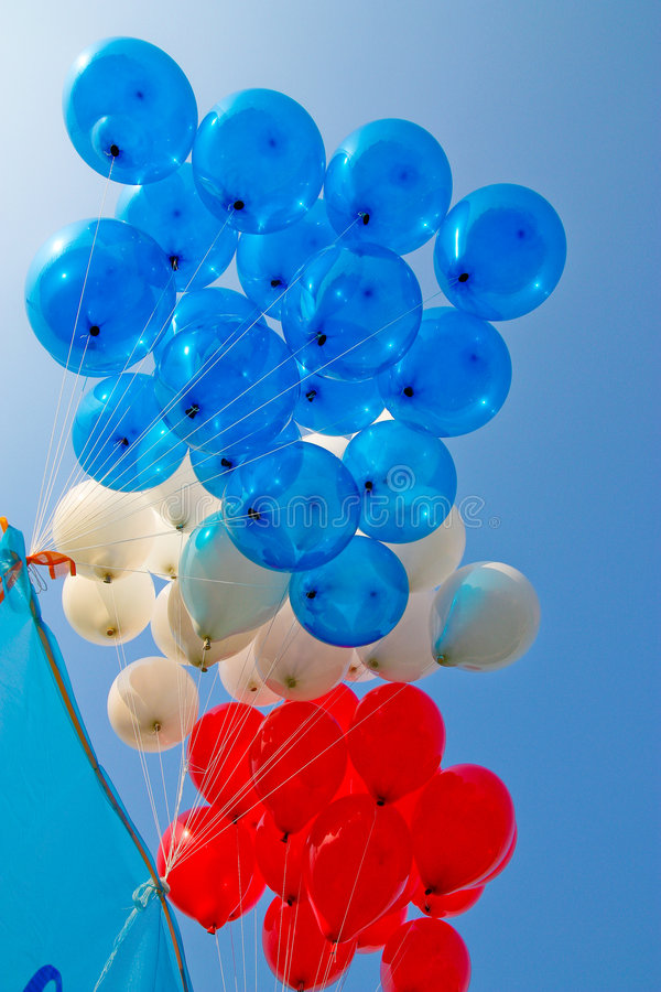 Red balloon. Colorful in sport day of local primary school in Thailand royalty free stock image