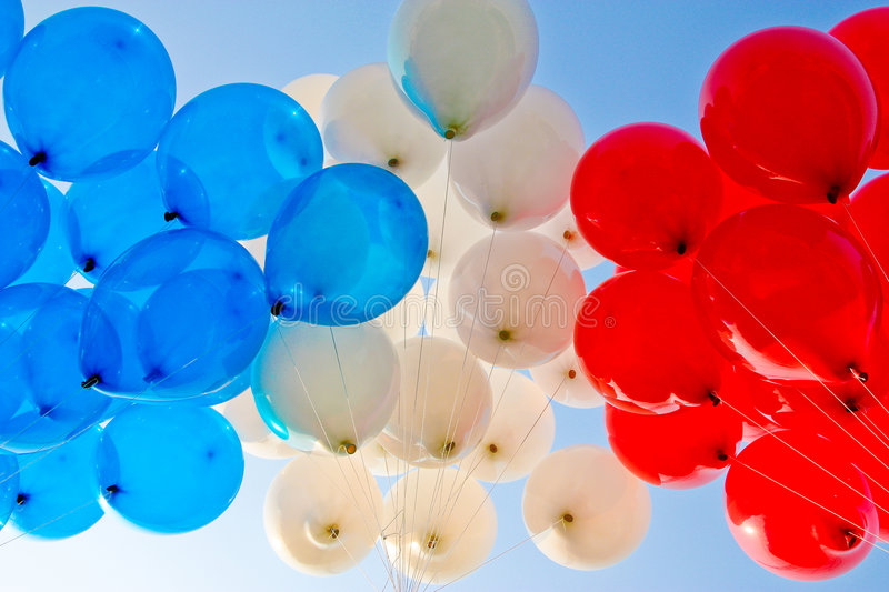 Red balloon. Colorful in sport day of local primary school in Thailand stock images