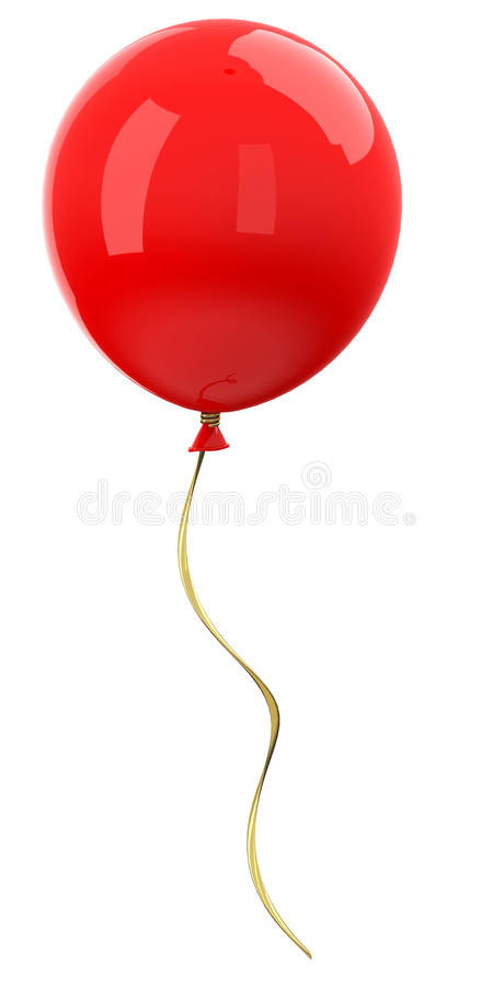 The Red Balloon Stock Illustration