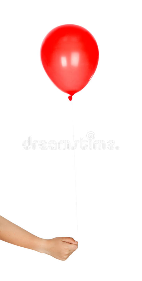 Red Balloon Inflated Stock Image