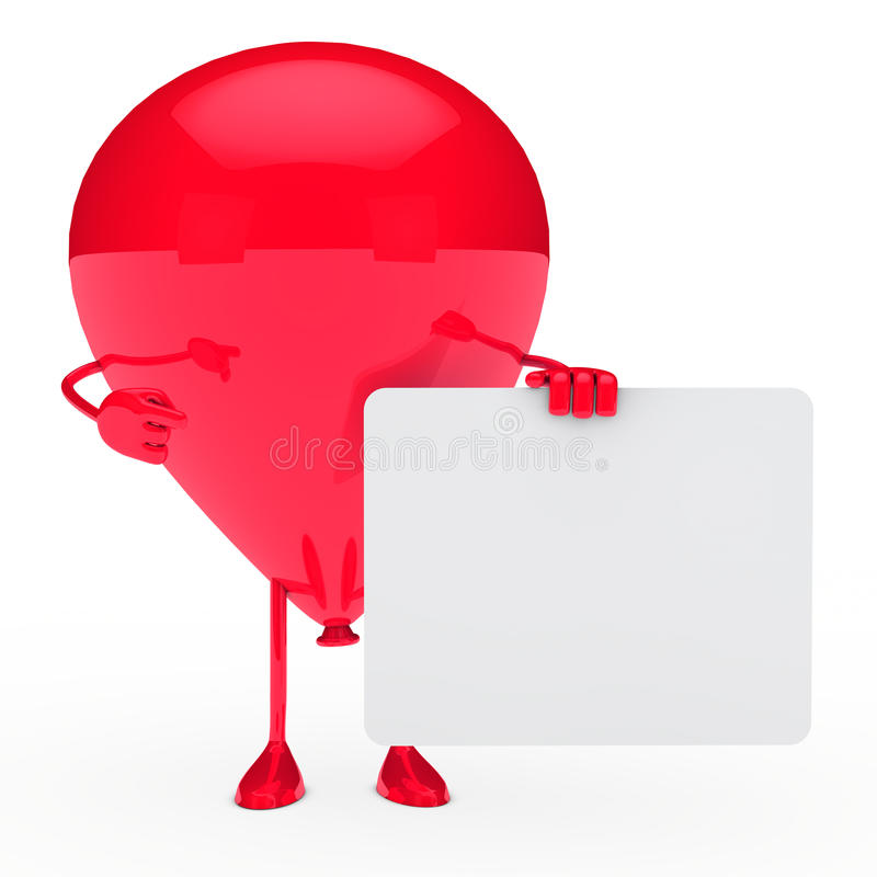 Download Red balloon shows stock illustration. Illustration of banner - 22909770