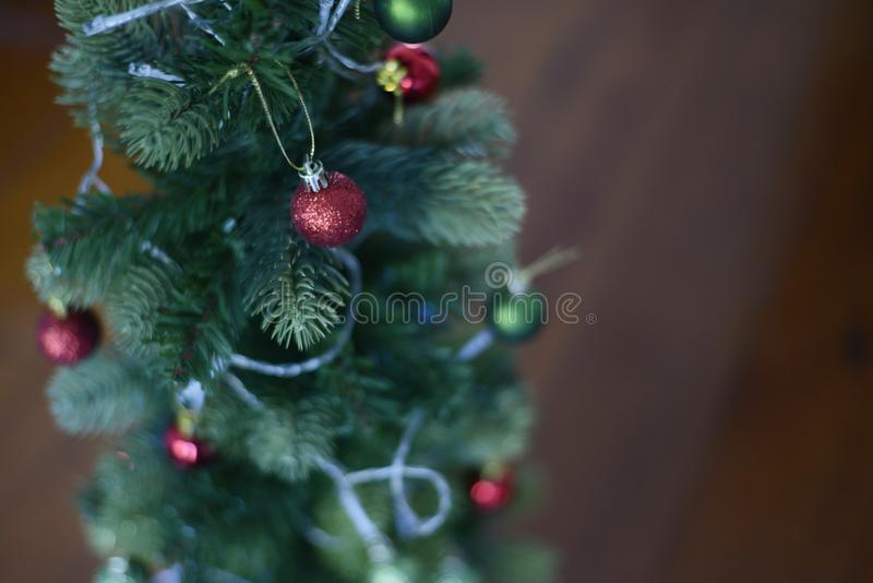 The red balls of christmas stock images