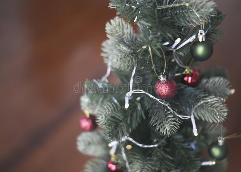 The red balls of christmas stock image
