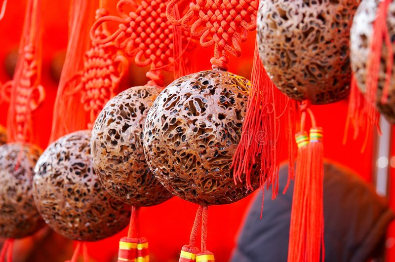 Red balls for Fortunate royalty free stock photos