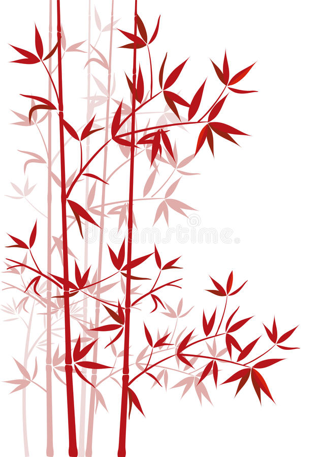 Red bamboo stock illustration