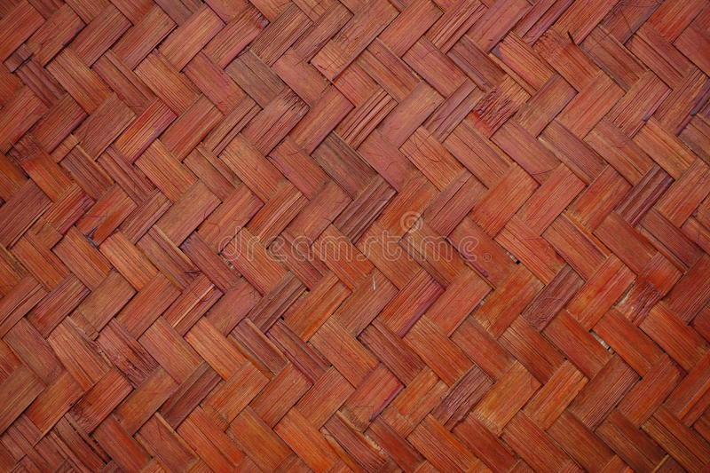 Red bamboo wooden wall royalty free stock photography