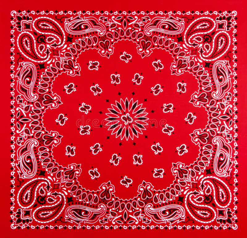 Download Red Bandana Print stock image. Image of fabric, paisley - 32075581