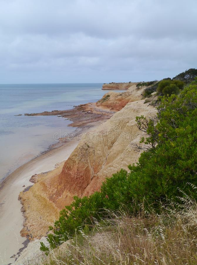 The red banks of Kangaroo island stock images