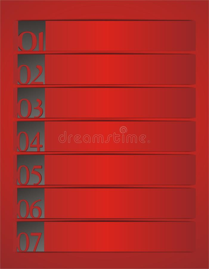 Red banners vector illustration