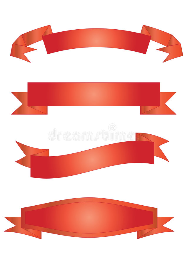 red banners vector stock vector illustration of idea 5630354 rh dreamstime com vector banner design vector banner design