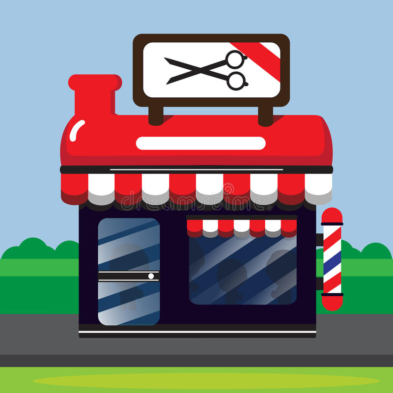 red barber shop stock vector illustration of store retro 56278506 rh dreamstime com barber shop clipart free cartoon barber shop clipart