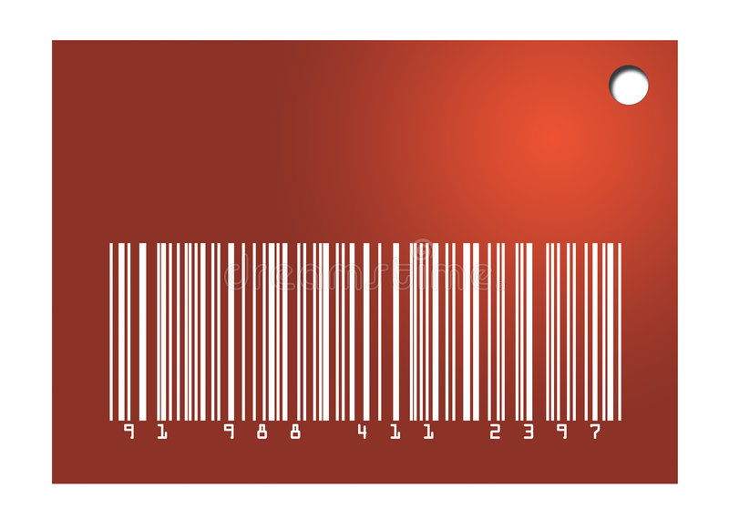 Download Red Barcode Tag stock illustration. Illustration of illustration - 7495007
