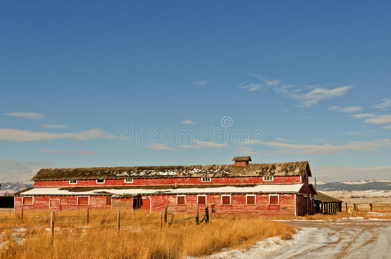 Download Red Barn stock image. Image of barns, structures, winter - 22225609
