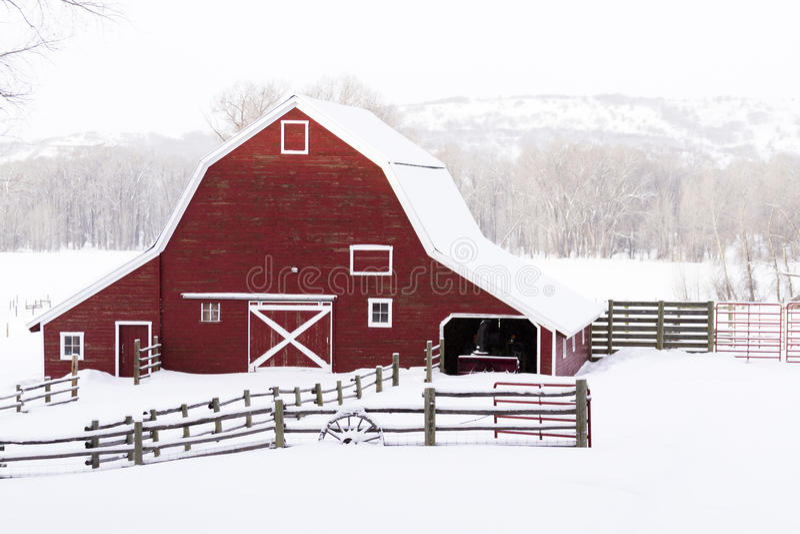 Red barn royalty free stock photos
