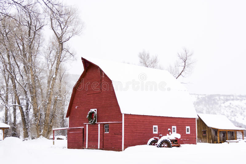 Red barn royalty free stock image