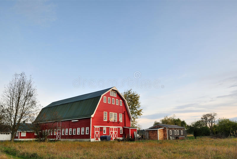 Download Red Barn in Arlington stock image. Image of farmland - 22003187