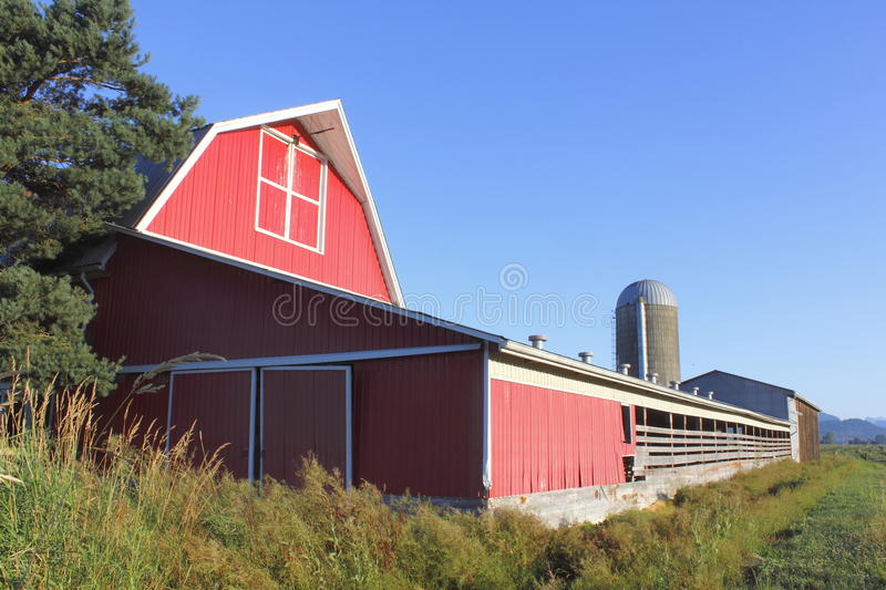 Download A red barn and Blue Sky stock image. Image of earth, blue - 26525917