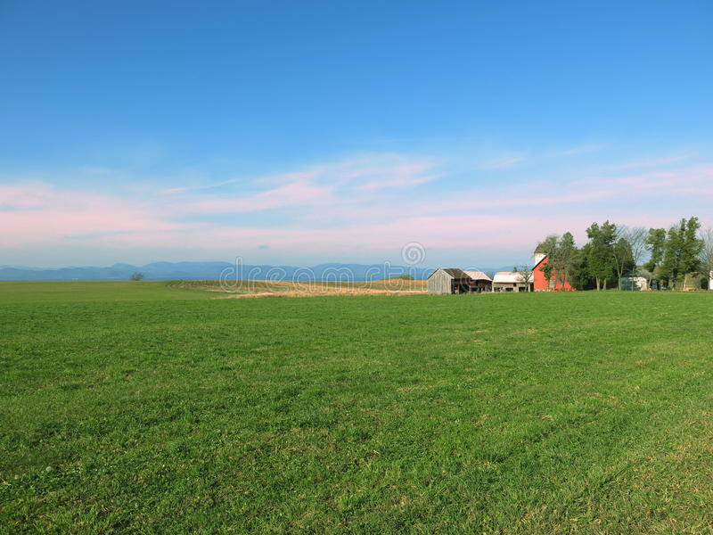 Red Barn Champlain Valley stock photo