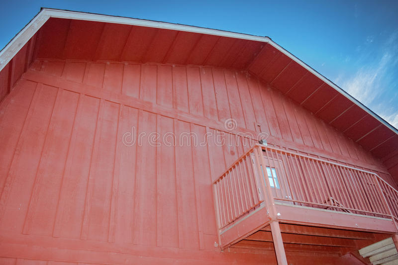 Red Barn. With a nice blue sky stock photography