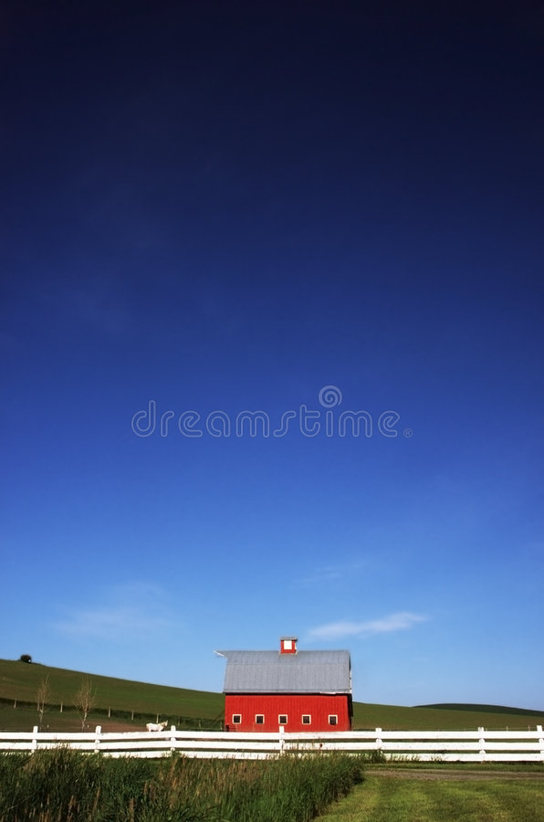 Download Red Barn and Open Skies stock photo. Image of skies, barn - 2020950