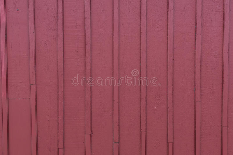 Red Barn Slat Siding. Wide View stock image