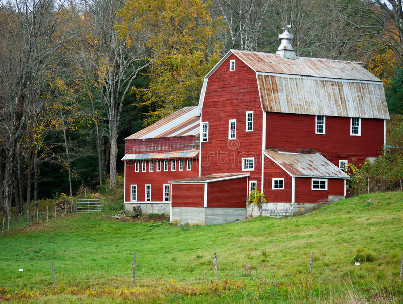 Red Barn, Vermont royalty free stock photo