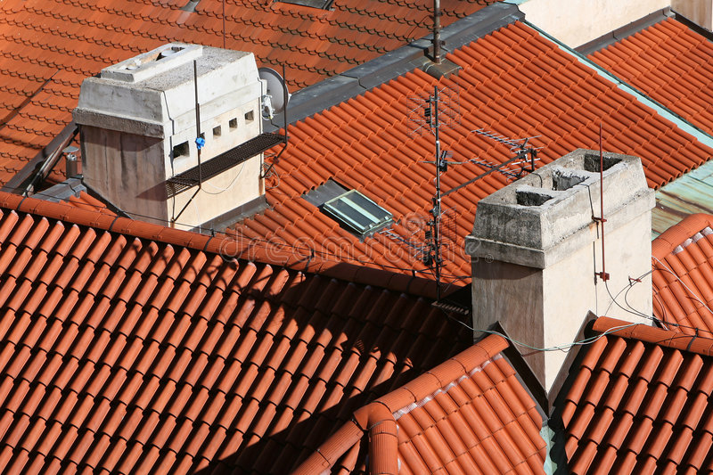 Download Red Barrel Tile Roofs stock photo. Image of ceramic, aerials - 2756264
