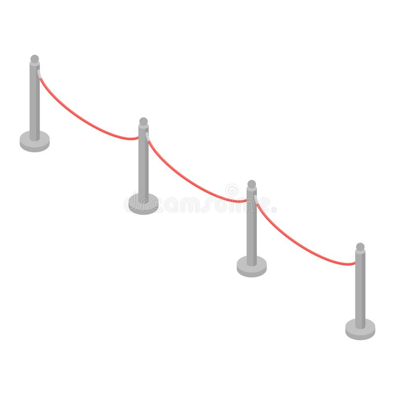 Red barrier icon, isometric style. Red barrier icon. Isometric of red barrier vector icon for web design isolated on white background stock illustration
