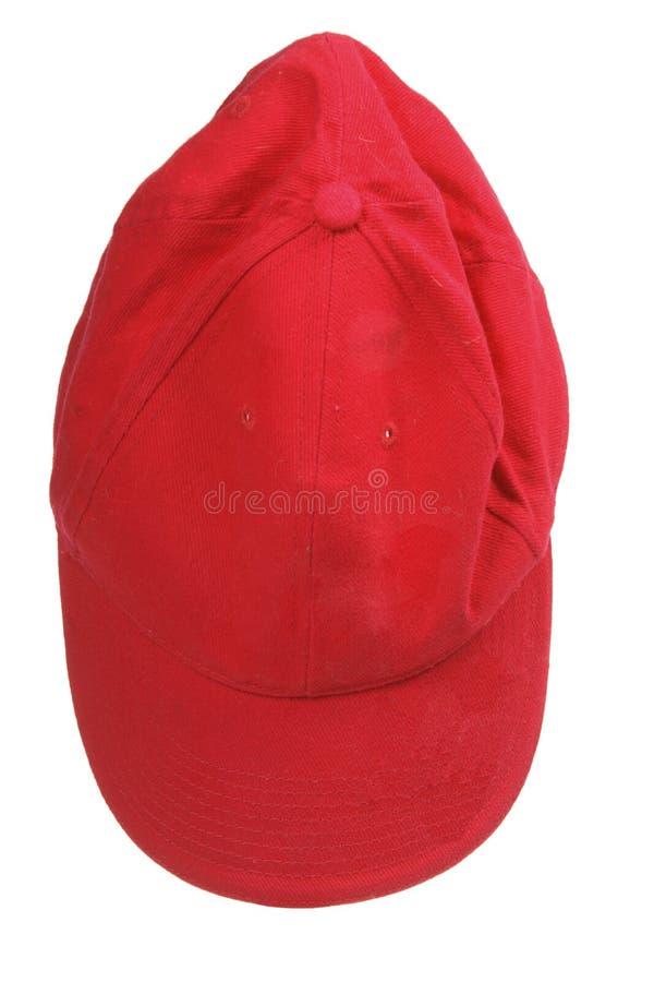 Red Baseball Cap royalty free stock photos