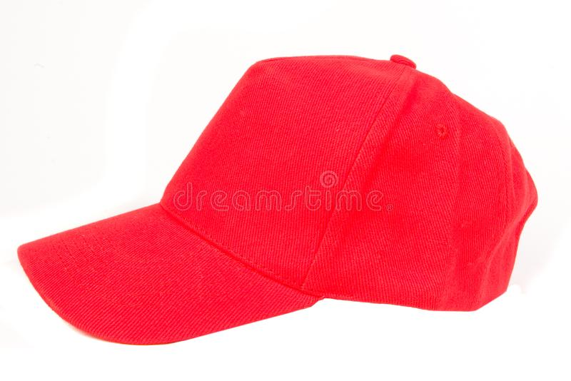 Red Baseball Cap royalty free stock photography