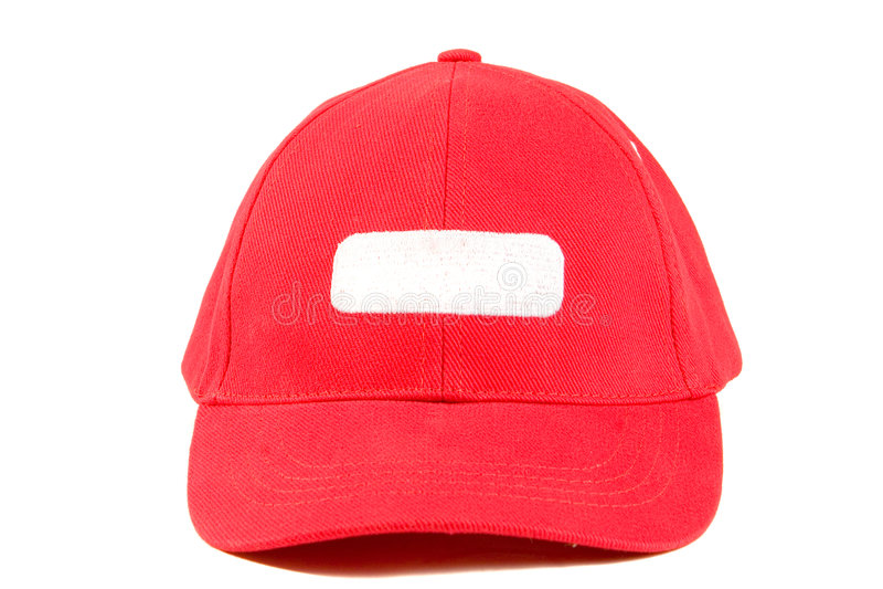 Red baseball hat royalty free stock image