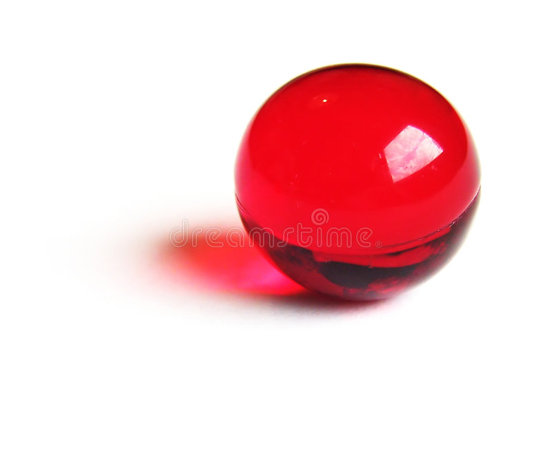 Red bath ball. stock image