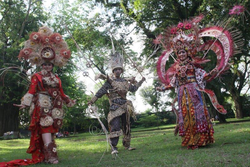 Red Batik Editorial Photo