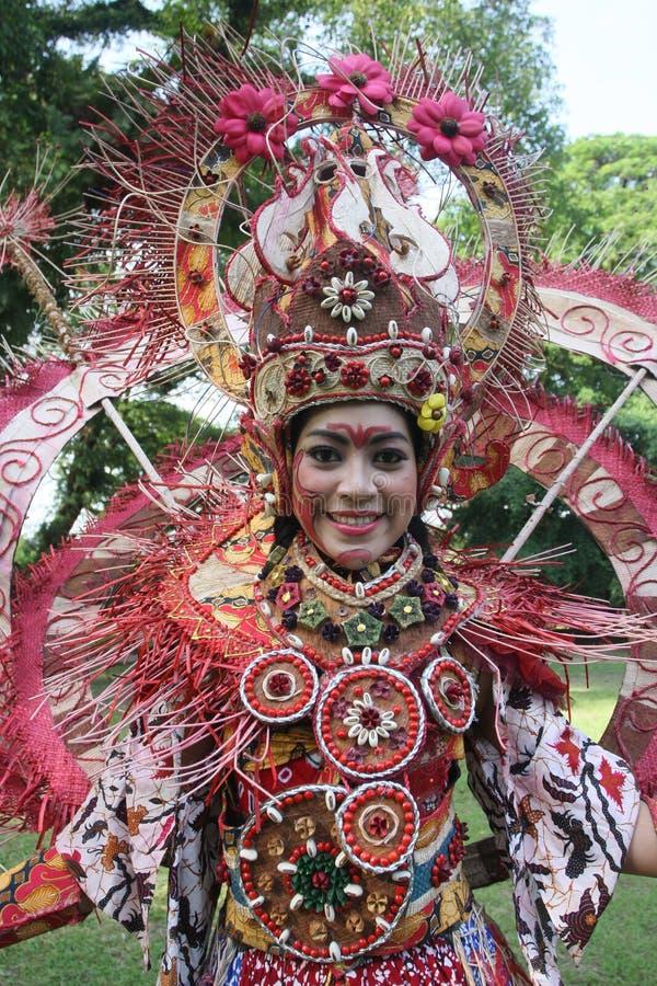 Red Batik Editorial Stock Image