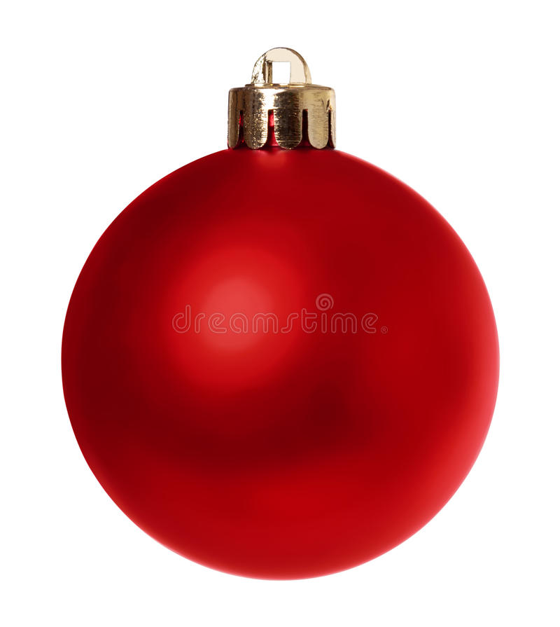 Download Red Bauble Isolated Clipping Path Stock Photos - Image: 28073243