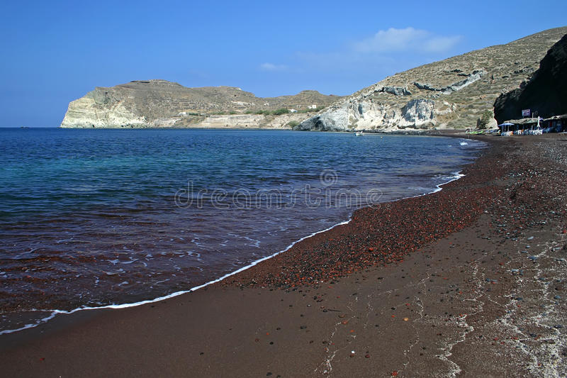 Download Red beach stock photo. Image of architecture, greek, santorin - 12599106