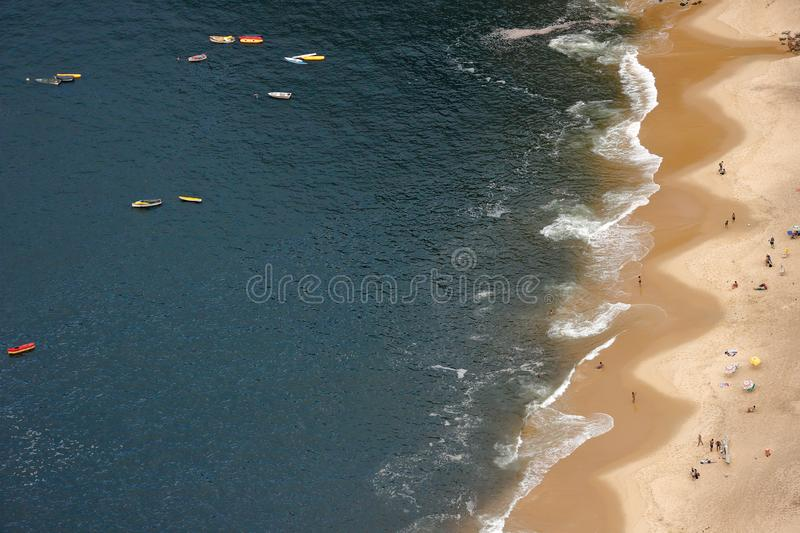 Red beach in the neighborhood of Urca, Rio de Janeiro, Brazil. royalty free stock photography