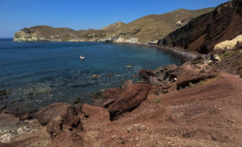 Red beach. Santorini, Cycladic Islands, Greece. Beautiful summer landscape with one of the most famous beaches in the world.  stock image