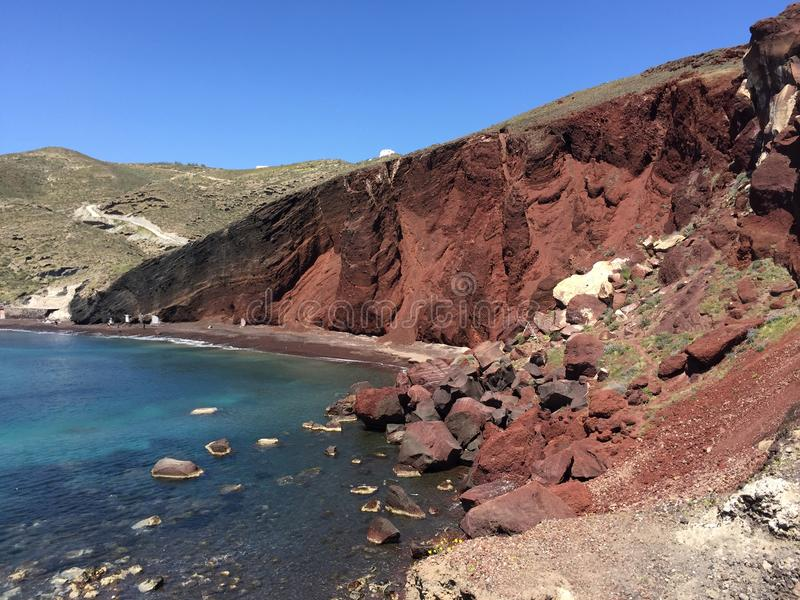 The Red Beach royalty free stock image