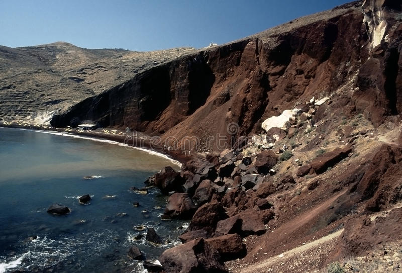 Download Red Beach, Santorini Island Stock Photo - Image: 21072026