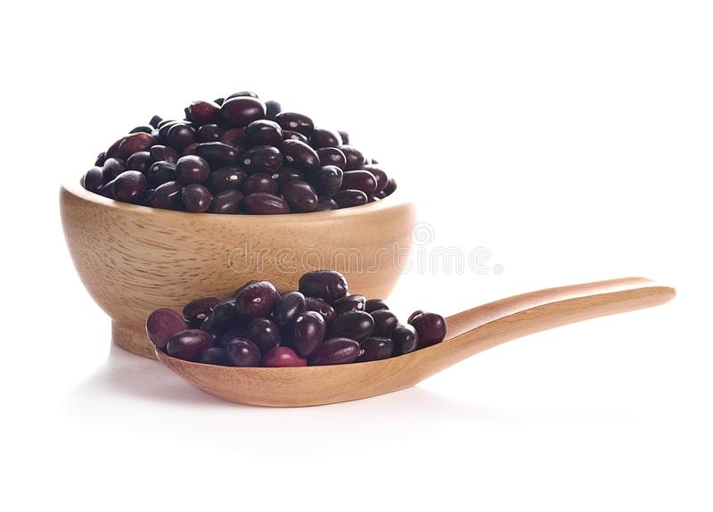 Red bean isolated on white background royalty free stock image