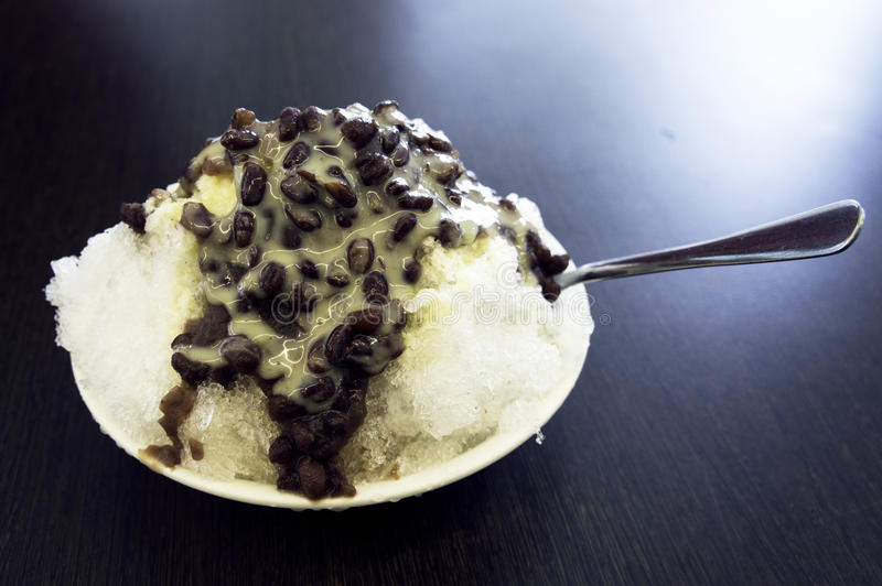 Download Red bean with milk ice stock photo. Image of spoon, sweet - 26808782