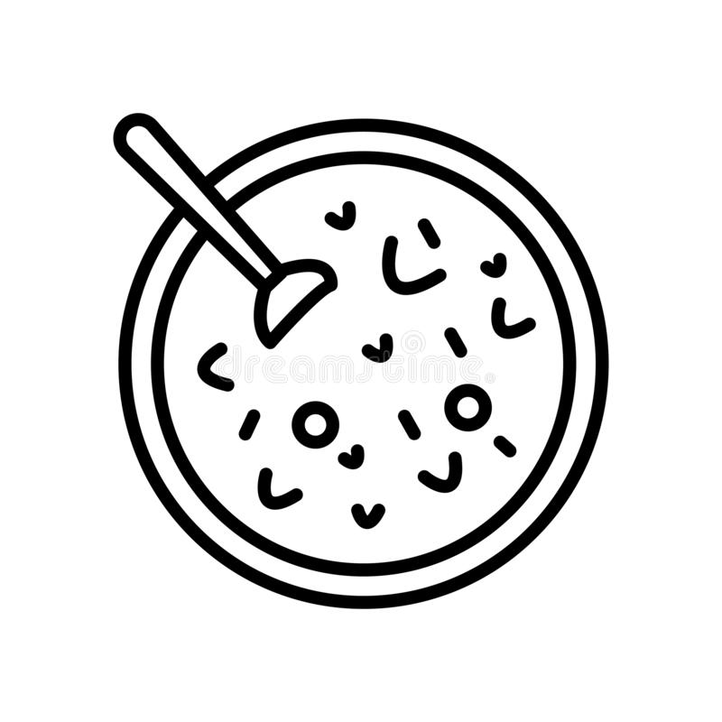 Red bean soup icon vector isolated on white background, Red bean soup sign royalty free illustration