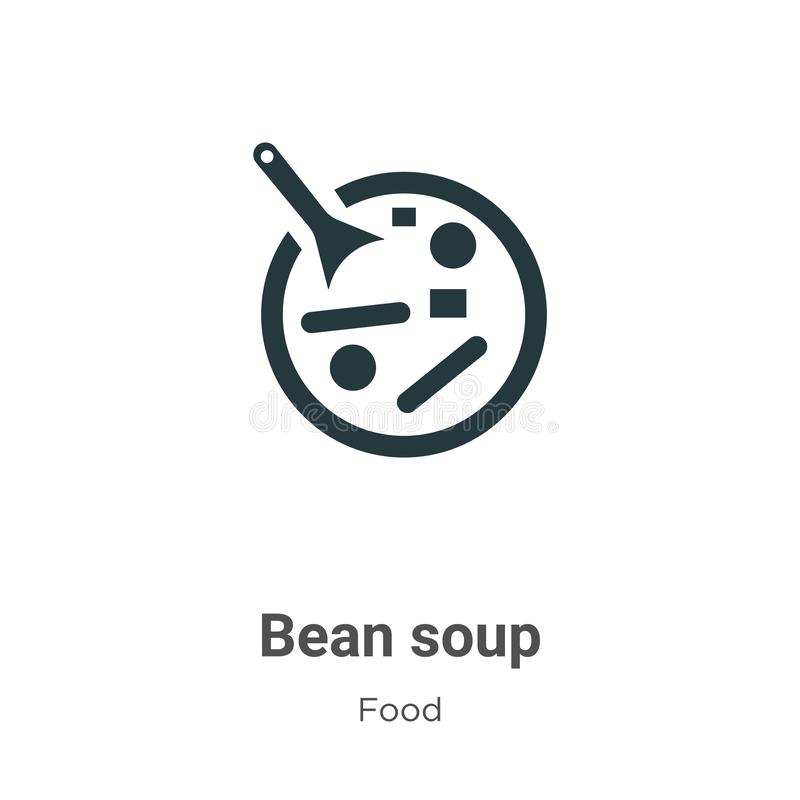 Red bean soup vector icon on white background. Flat vector red bean soup icon symbol sign from modern food collection for mobile vector illustration