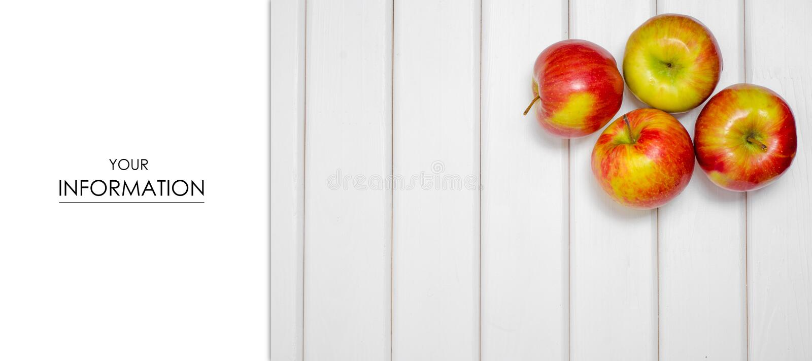 Red beautiful apples pattern royalty free stock image