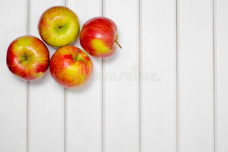 Red beautiful apples stock photo